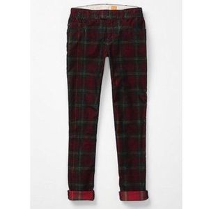 Anthro Pilcro Tartan Plaid Corduroy Pants Sz 30